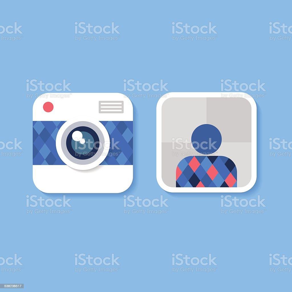 Flat Design Camera Icon, Vector Illustration vector art illustration