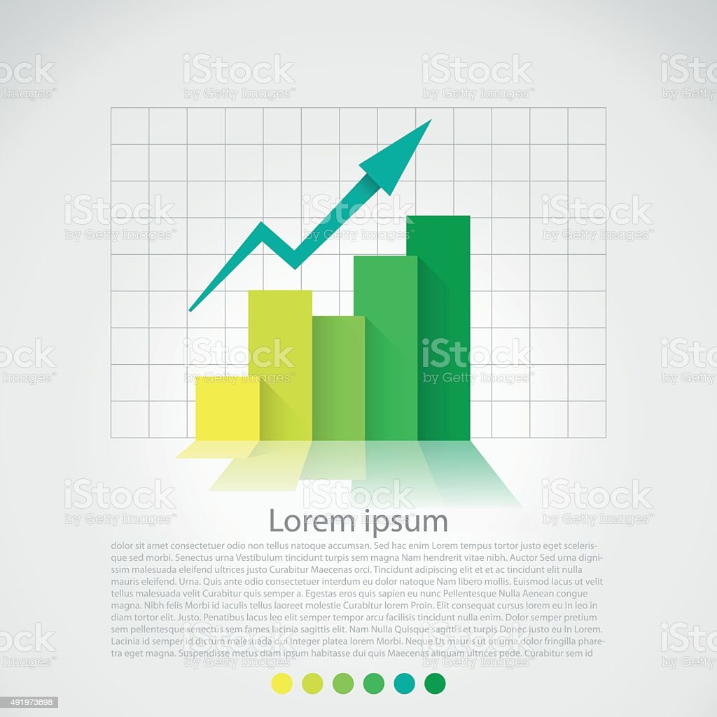 Flat design chart vector art illustration