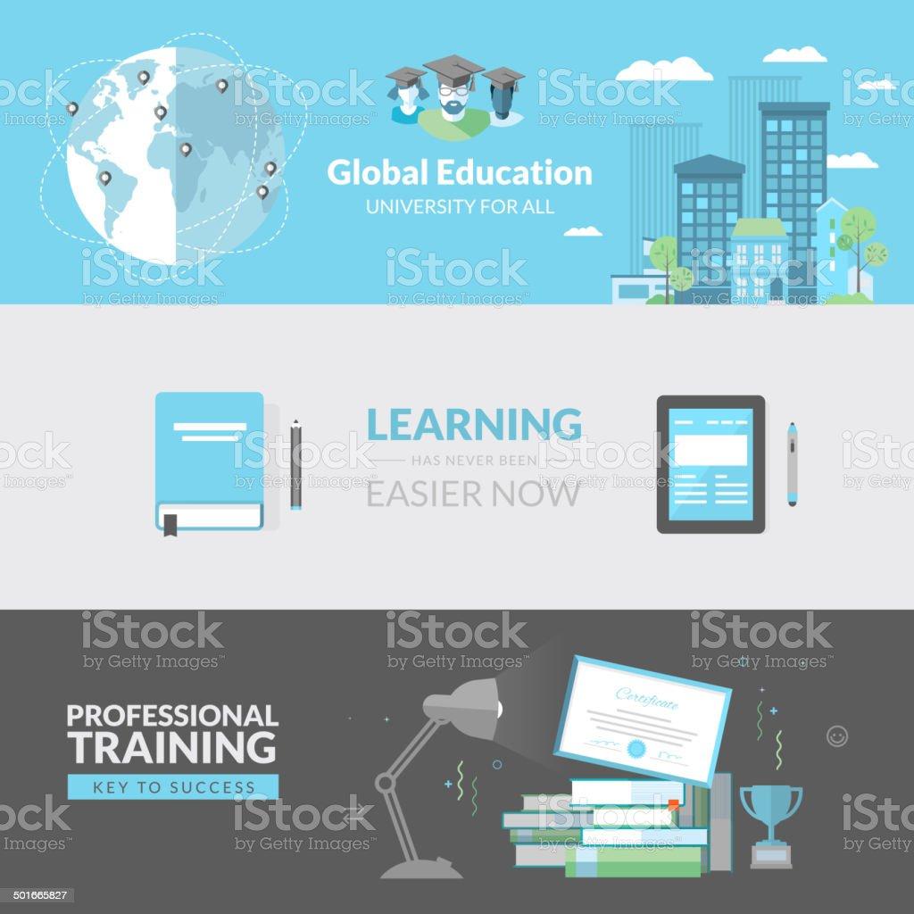 Concepto de diseño plano para la educación illustracion libre de derechos libre de derechos