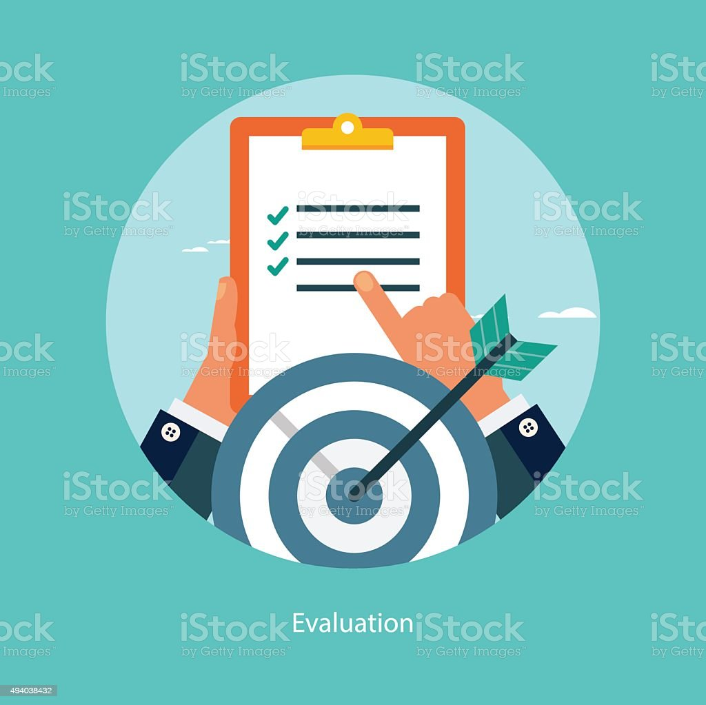 Flat design concept for success in business vector art illustration