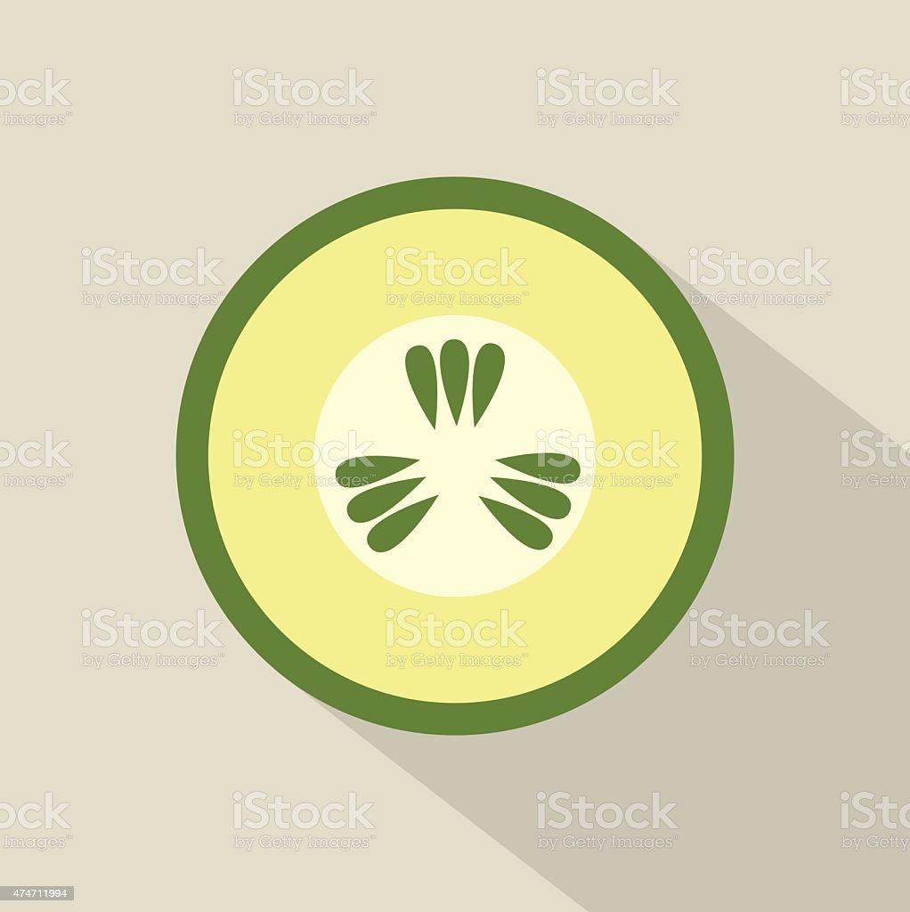 Flat Design Cucumber Icon vector art illustration