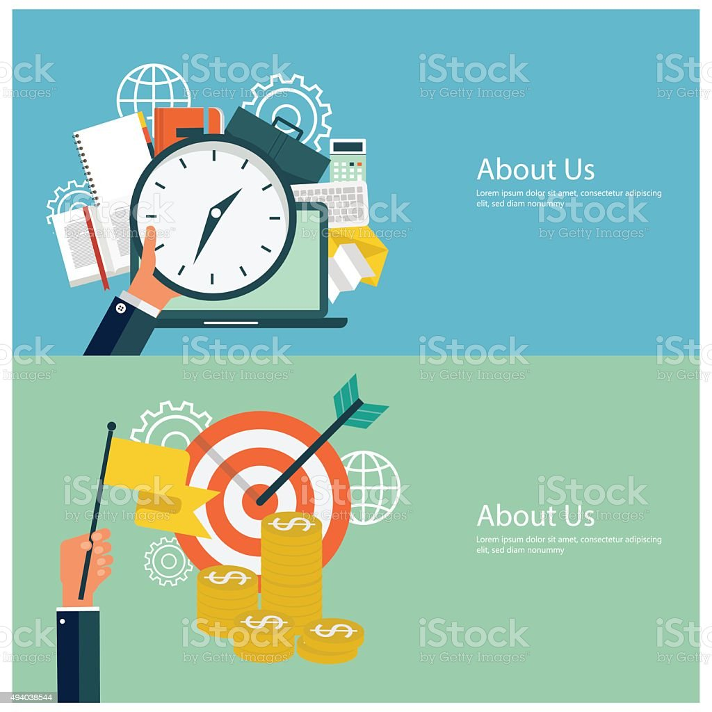 Flat design financial concepts vector art illustration