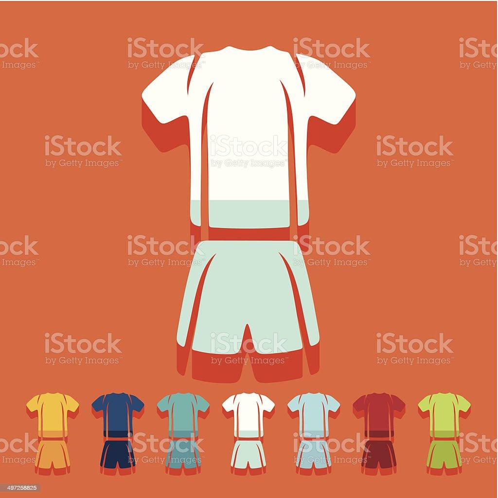 Flat design: Football clothing royalty-free stock vector art