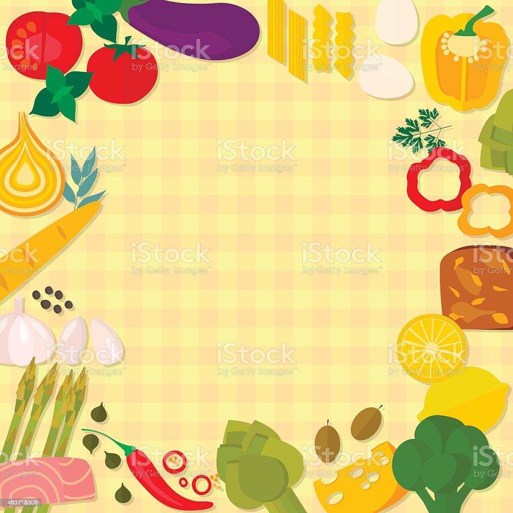 Flat design healthy eating vector concept. vector art illustration