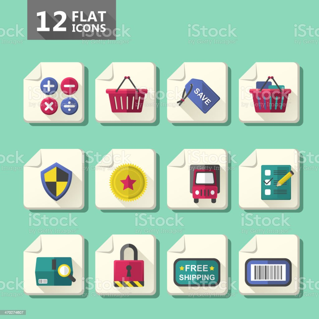 flat design icon set royalty-free stock vector art