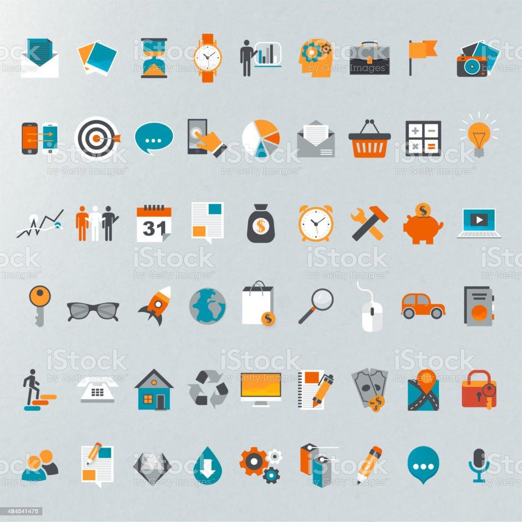 Flat design icon set. royalty-free stock vector art
