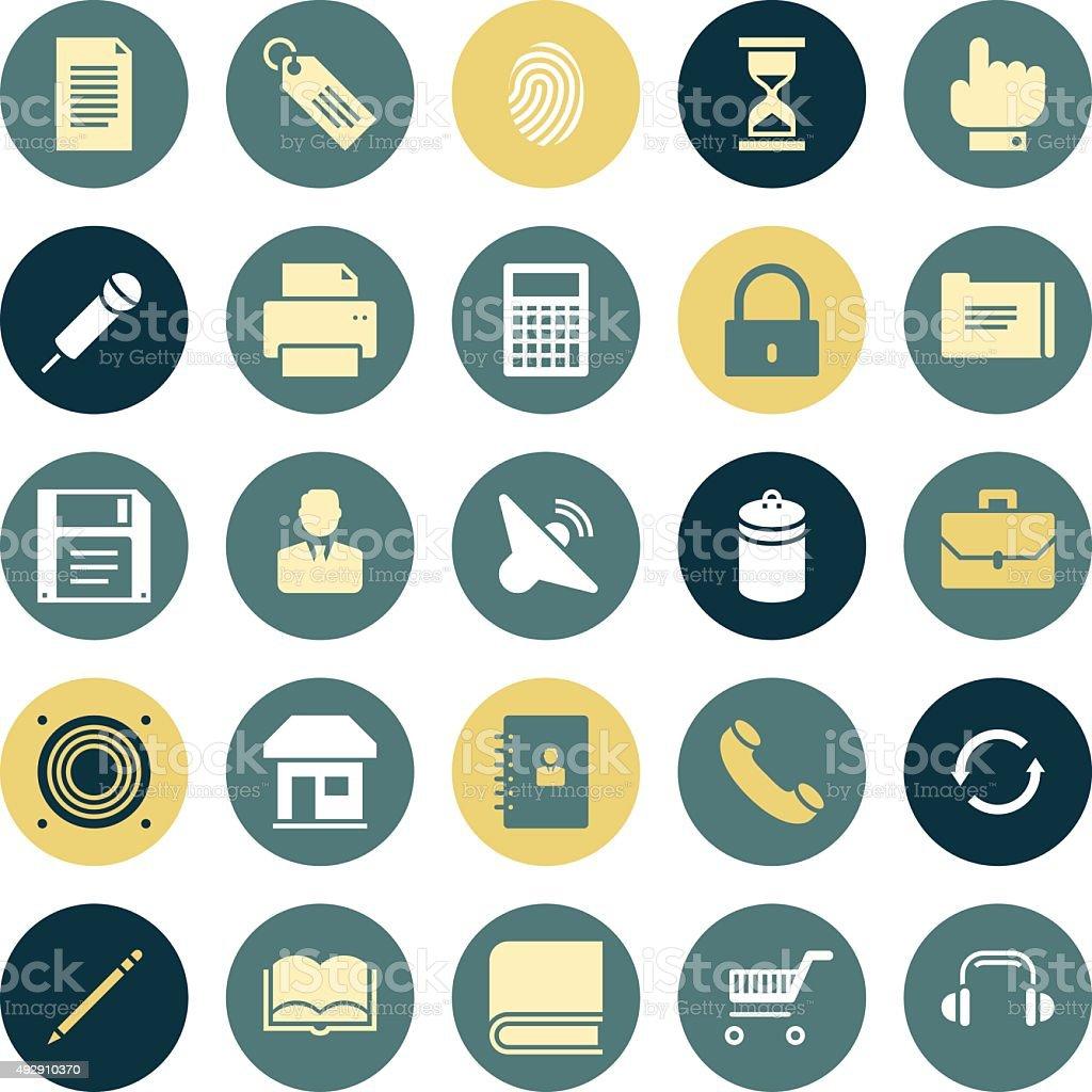 Flat design icons for user interface vector art illustration