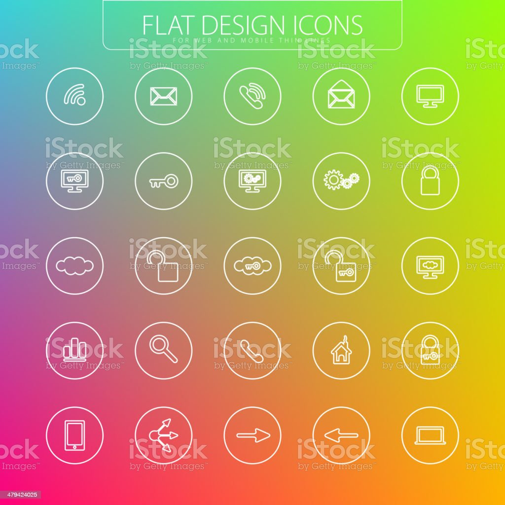 Flat design - icons pack royalty-free stock vector art