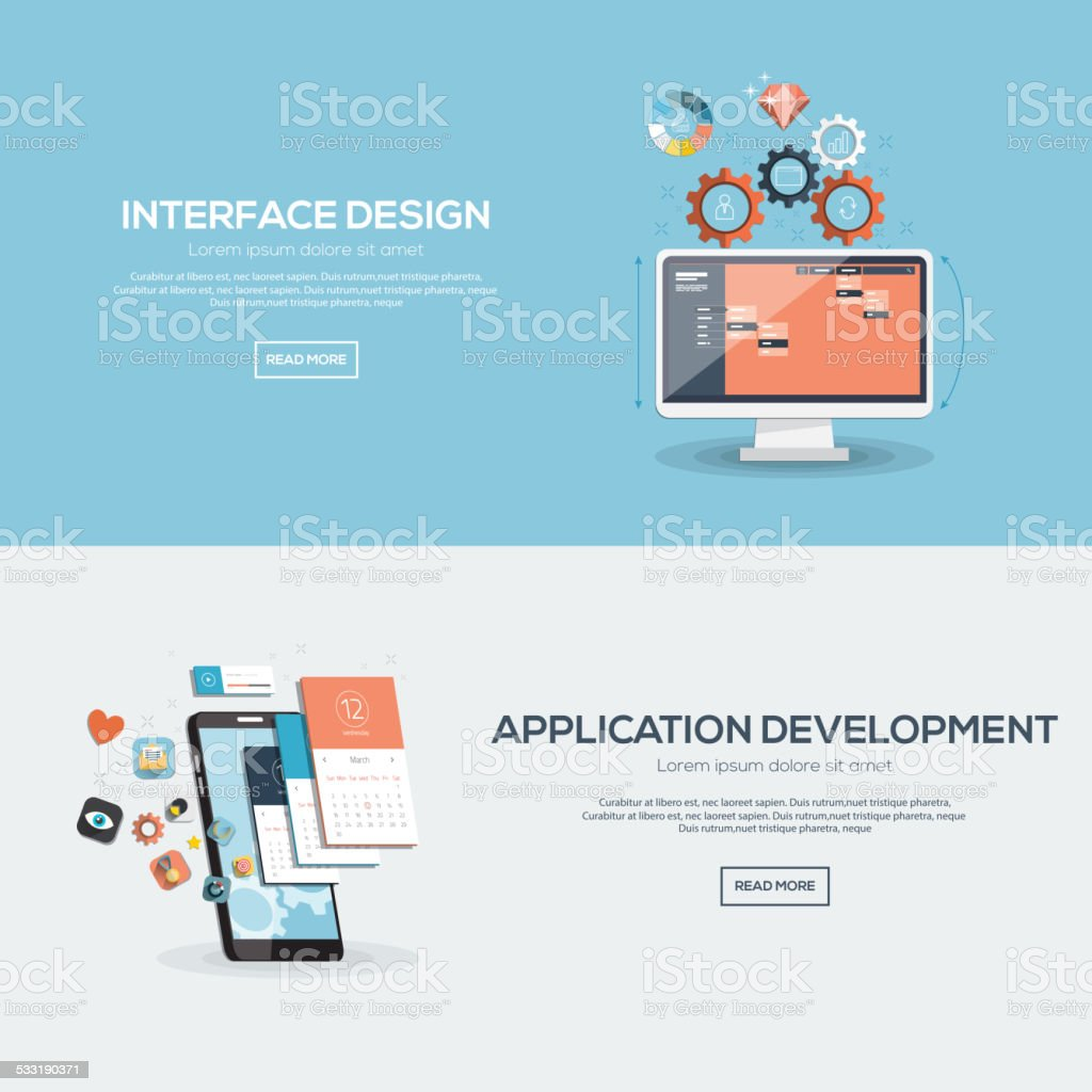 Flat design illustration concept vector art illustration