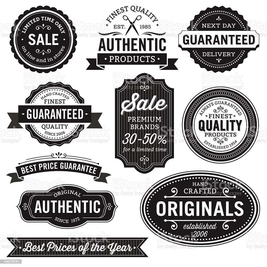 Flat Design Labels vector art illustration