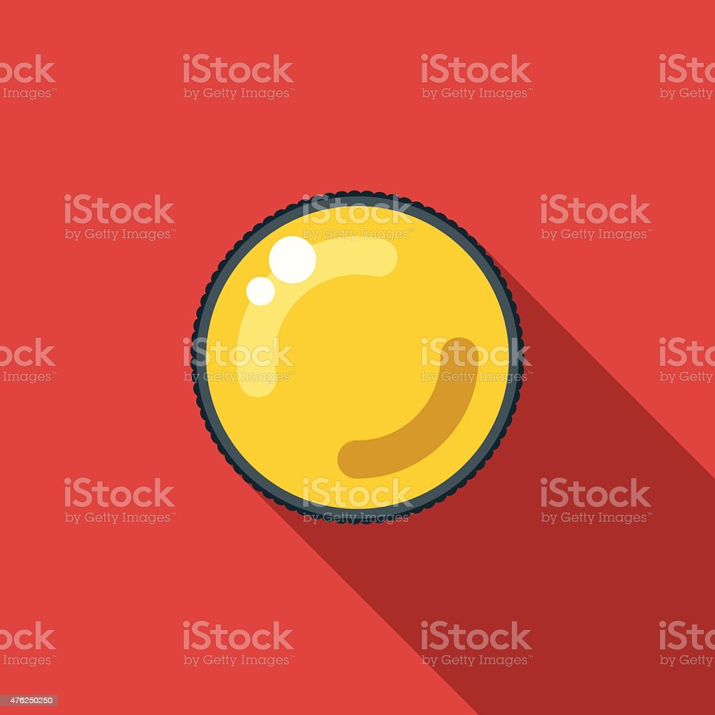 Flat Design Lens Filter Icon With Long Shadow vector art illustration