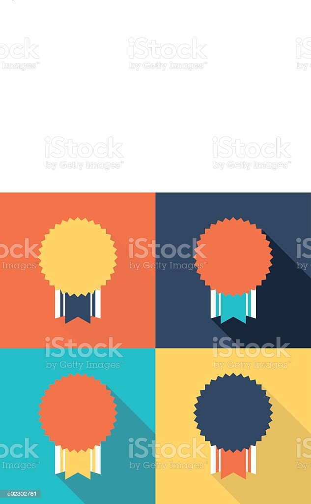Flat design medals vector art illustration