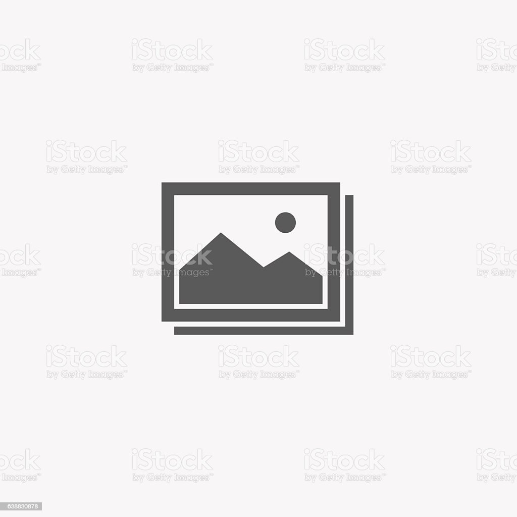 Flat Design of Pictures Gallery Icon vector art illustration