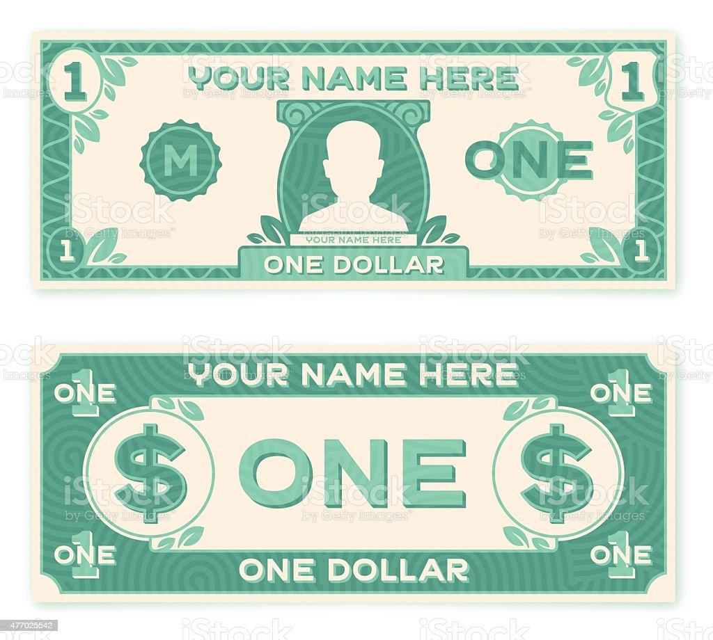 Flat Design Paper Money vector art illustration