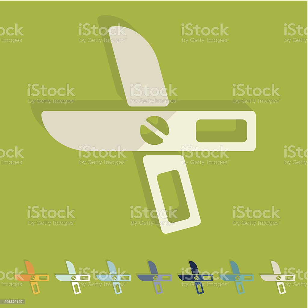Flat design: scissors royalty-free stock vector art