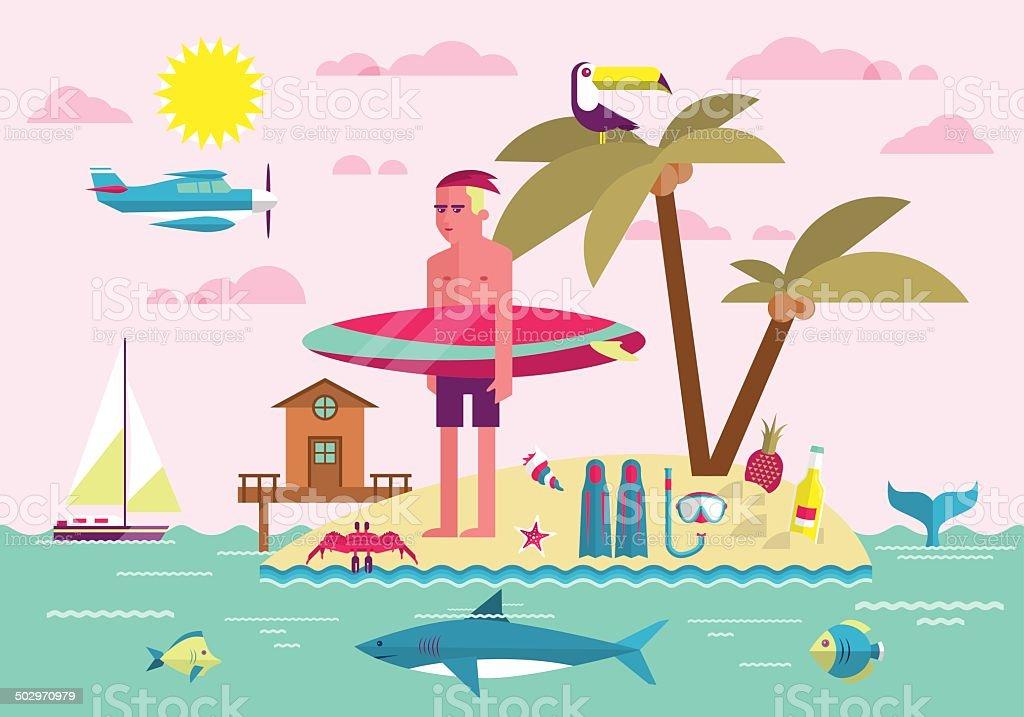 Flat design style vector illustration concept royalty-free stock vector art