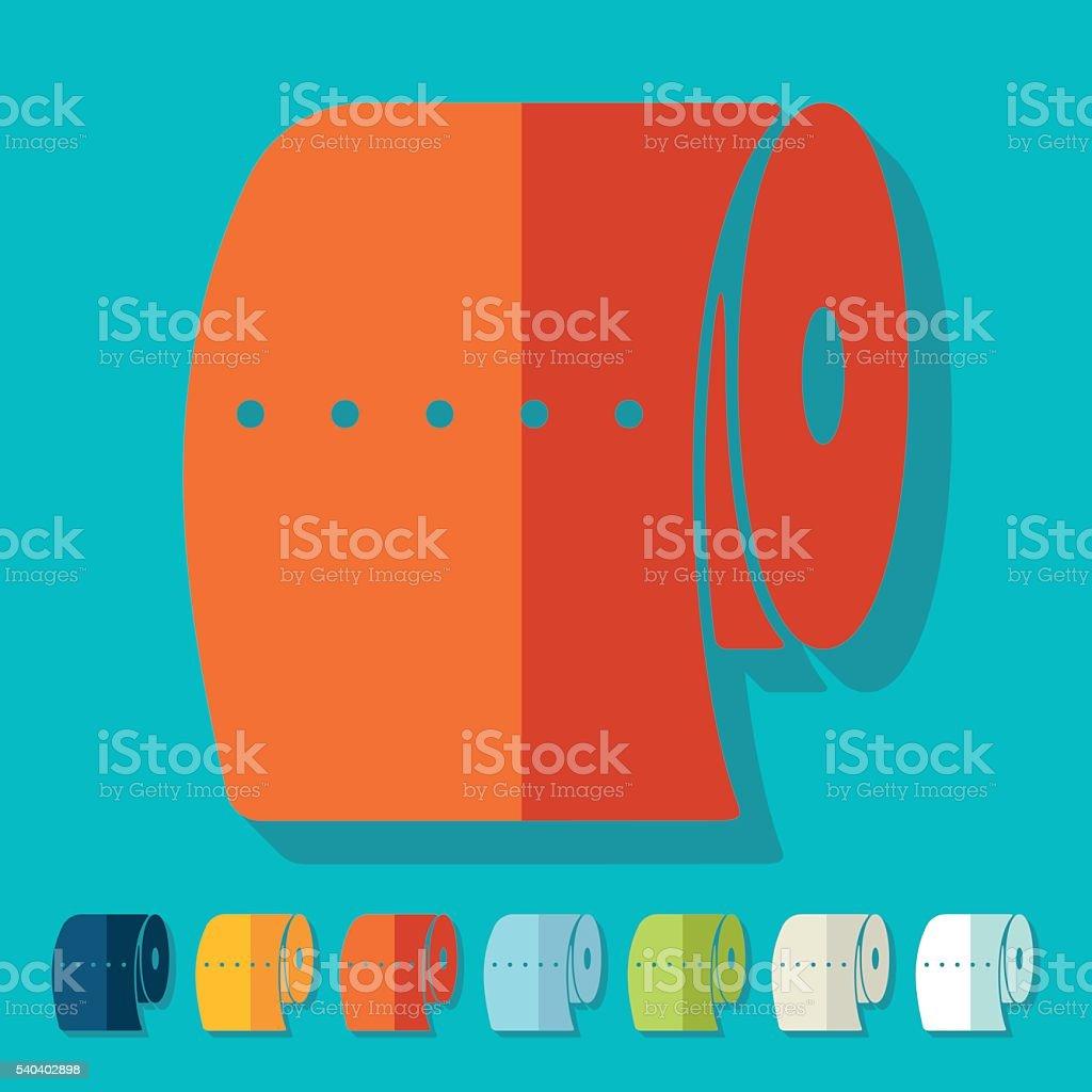 Flat design: toilet paper vector art illustration