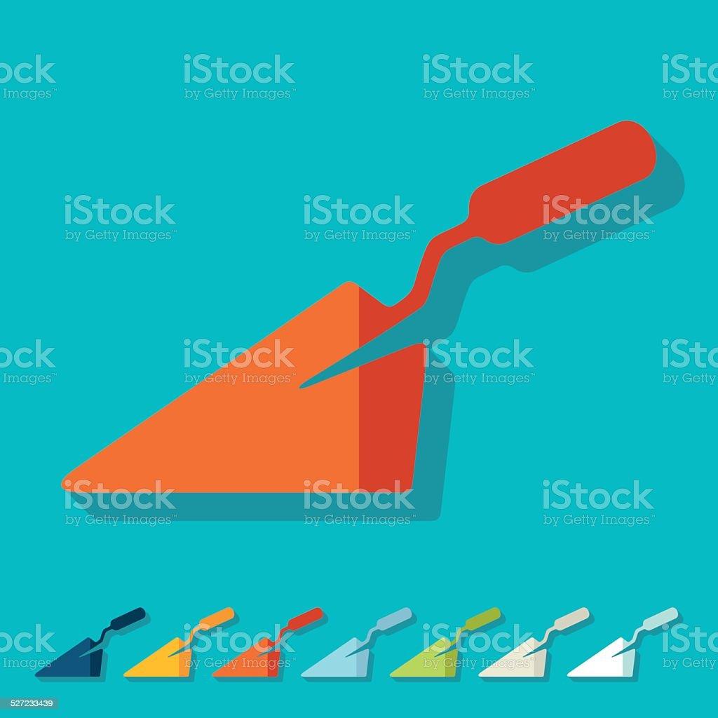 Flat design: trowel vector art illustration