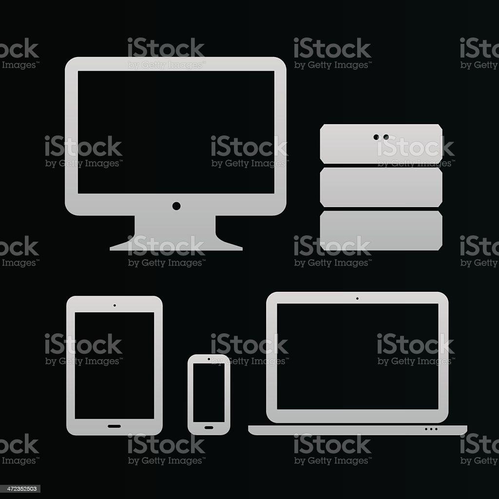 Flat design ui icons royalty-free stock vector art