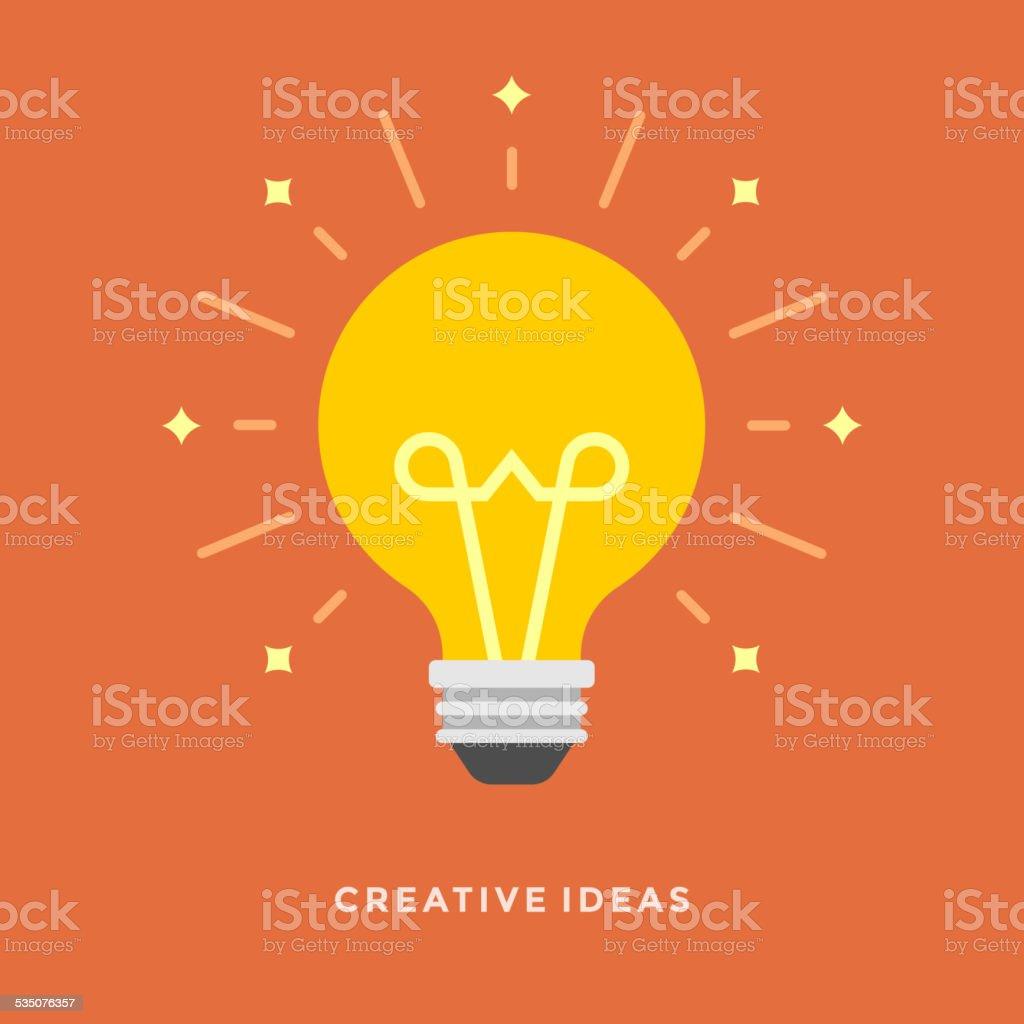 Flat design vector business illustration concept Creative idea vector art illustration