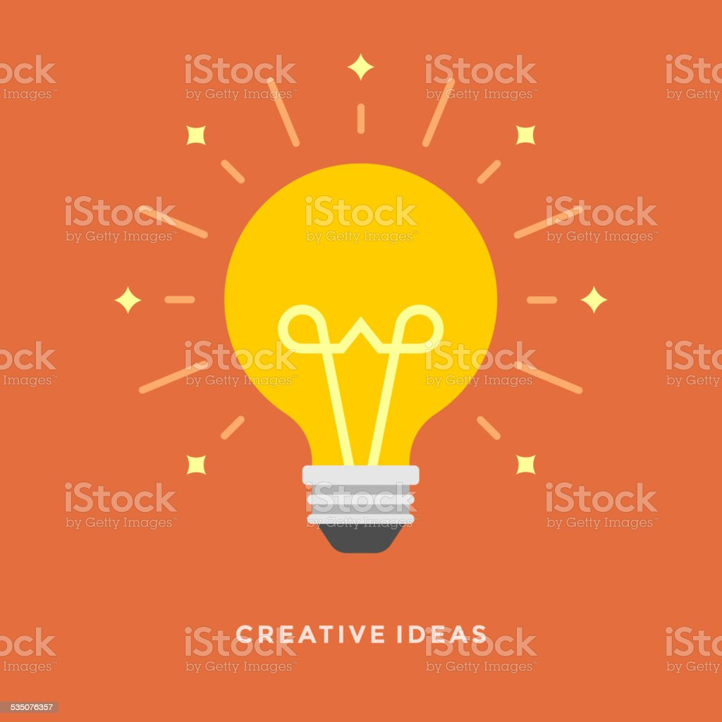 Flat design vector business illustration concept Creative idea vector art illustration