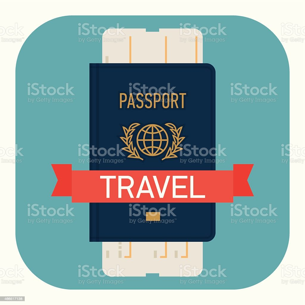 Flat design web icon on travel and tourism vector art illustration