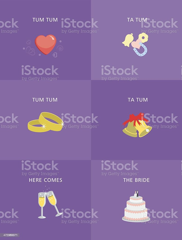Flat Design Wedding Day Icons royalty-free stock vector art