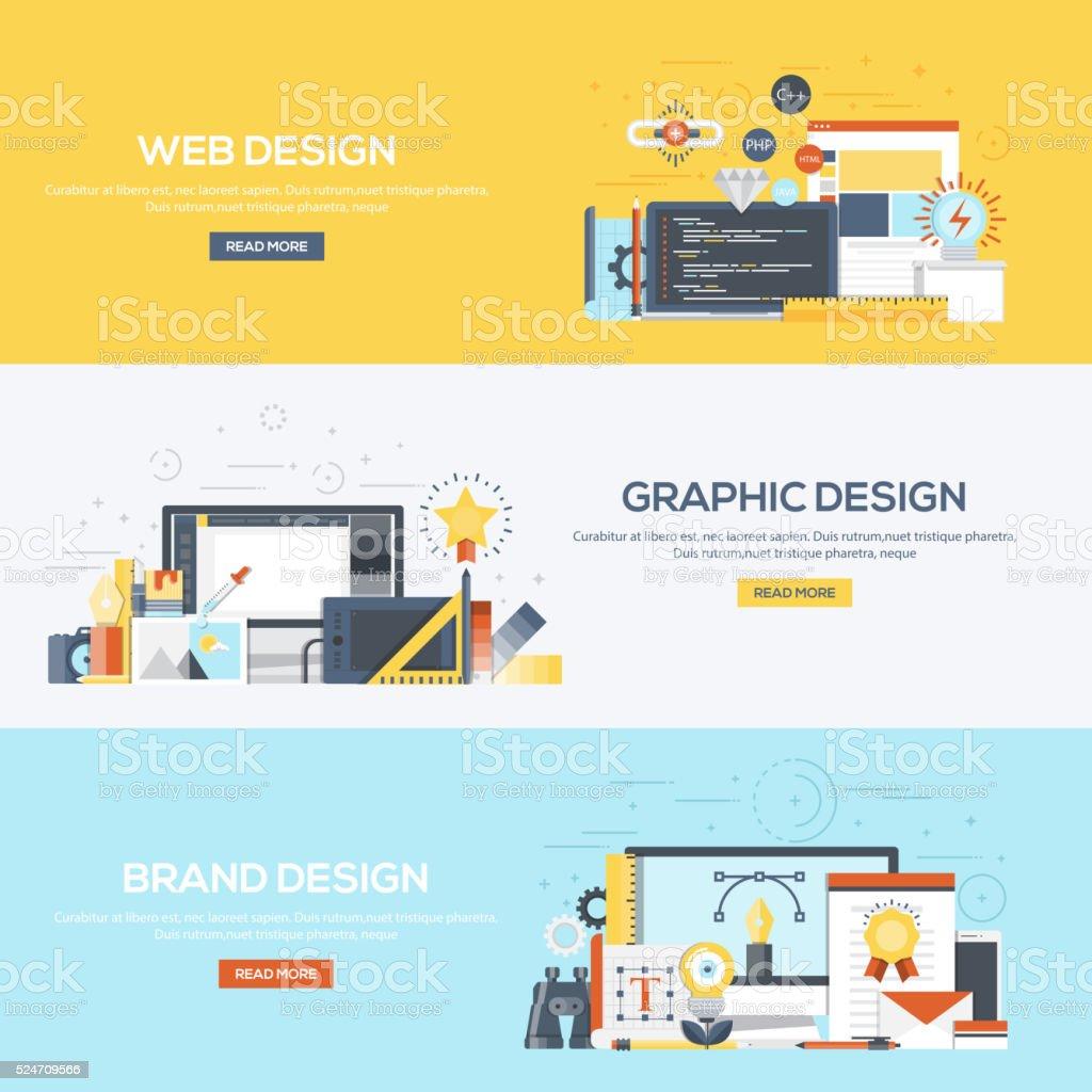 Flat designed banners- Design vector art illustration