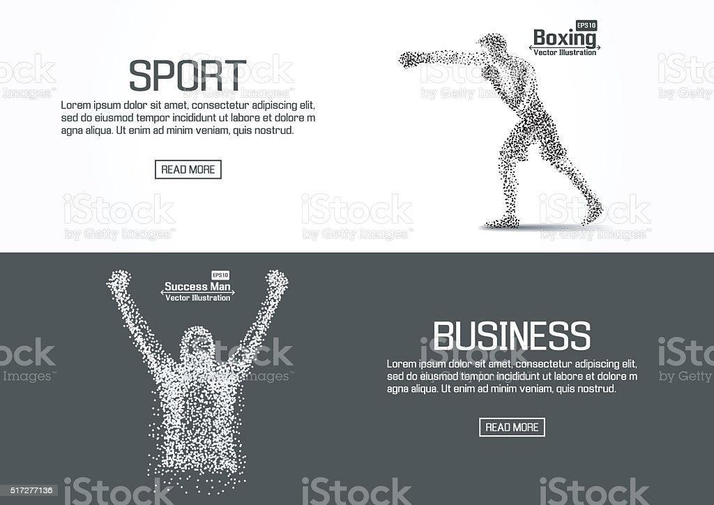 Flat designed website banners for sport and business. vector vector art illustration