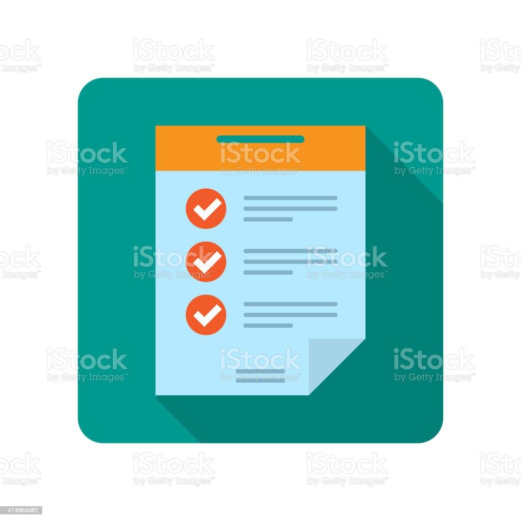 Flat document icon vector art illustration