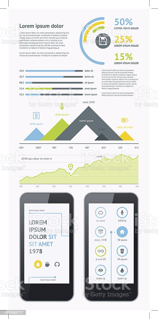 Flat Elements of Infographics royalty-free stock vector art