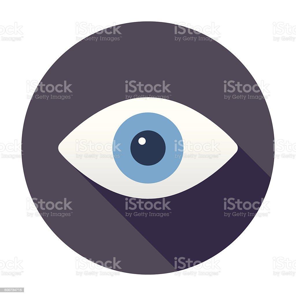 Flat Eye Icon vector art illustration