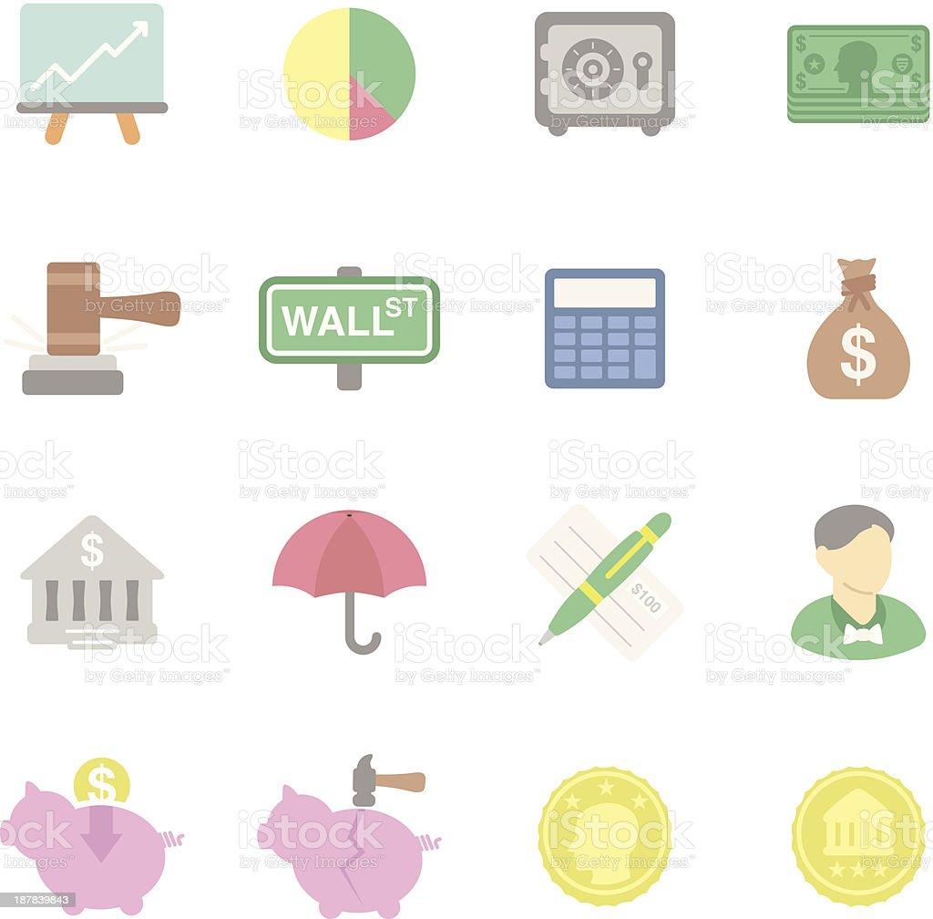 Flat | Financial vector art illustration