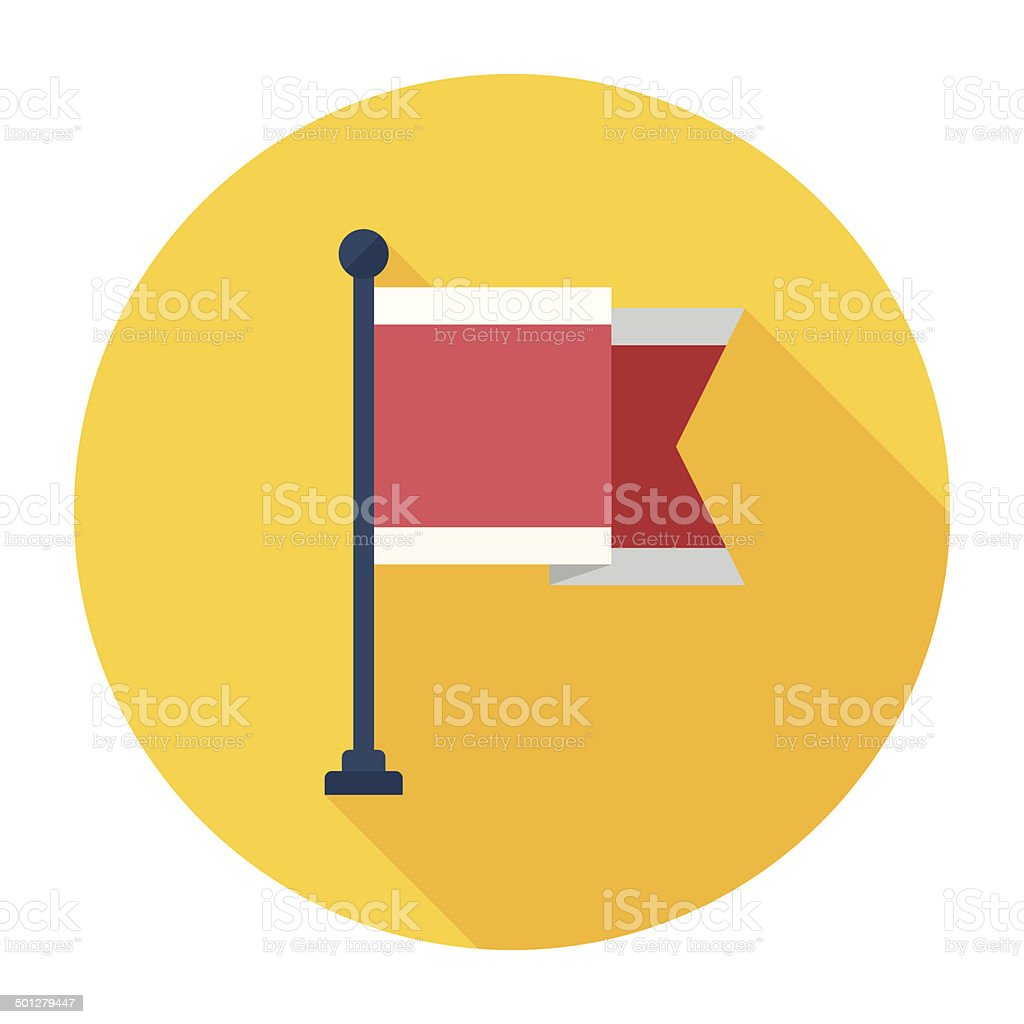 Flat Flag Icon vector art illustration