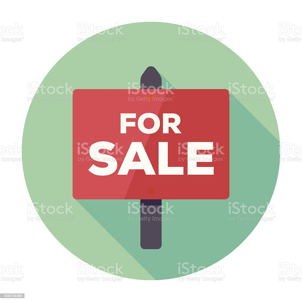 Flat For Sale Icon vector art illustration
