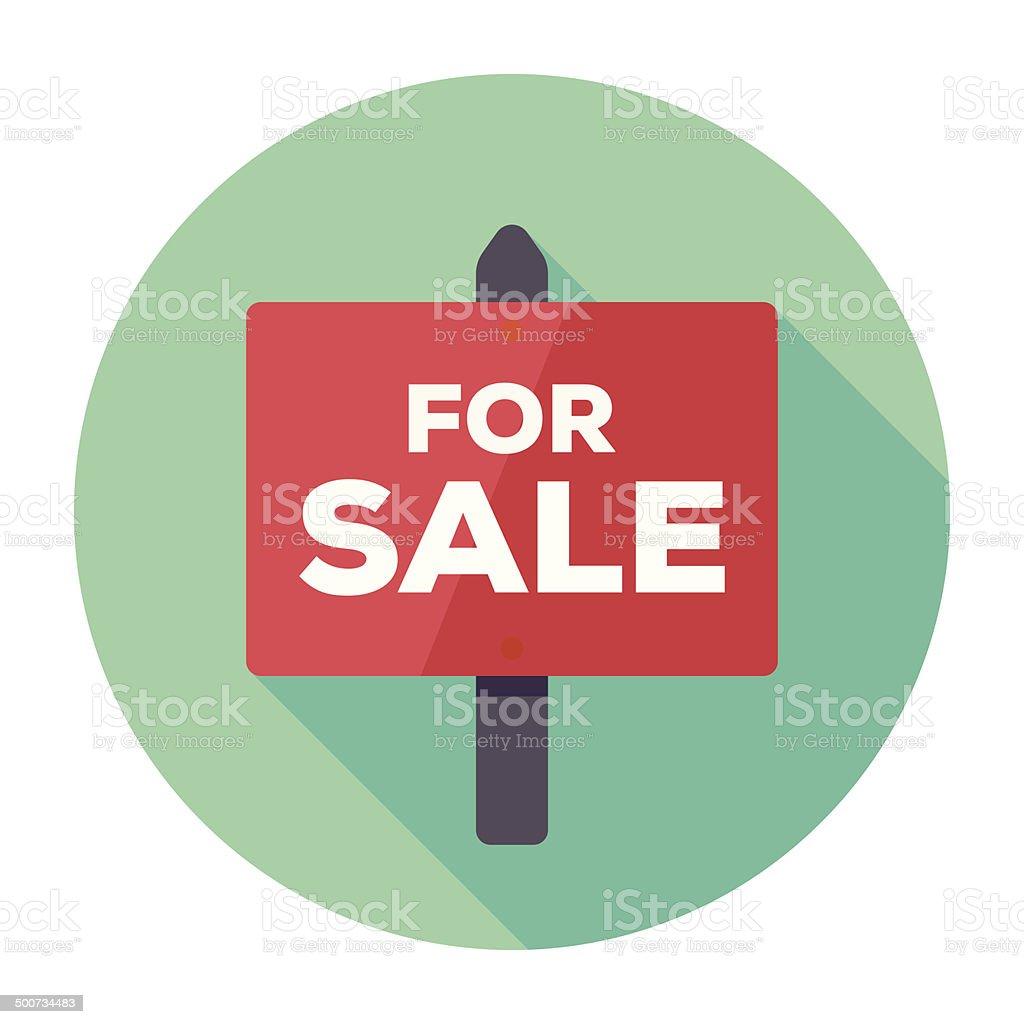 Flat For Sale Icon vector art illustration