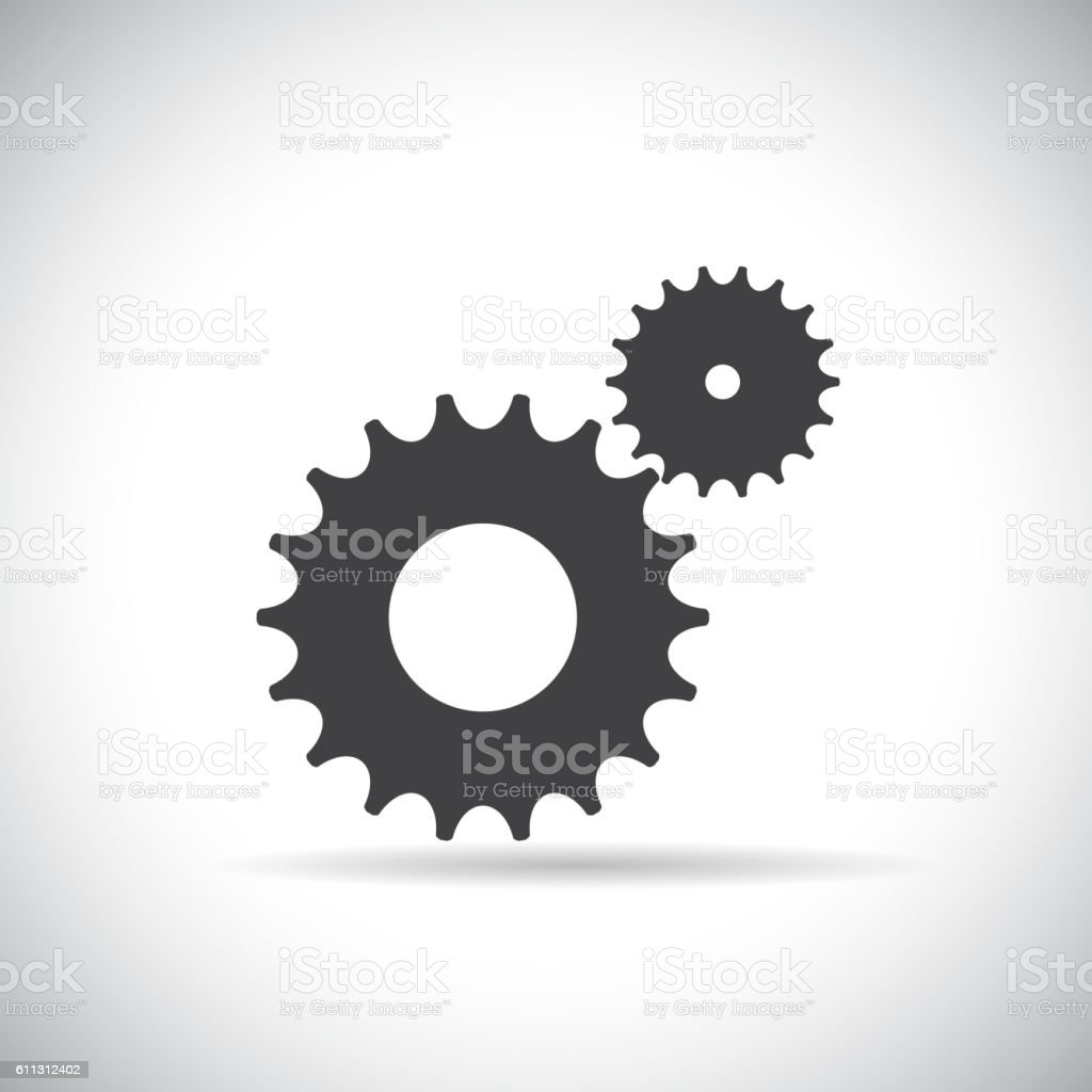 flat gear icon cooperation and teamwork concept vector illustr cooperation and teamwork concept vector illustr royalty stock vector