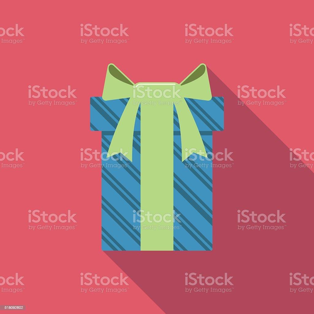 flat gift box icon vector art illustration