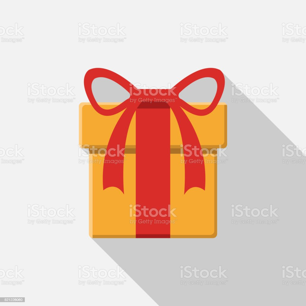 flat gift box icon vector art illustration