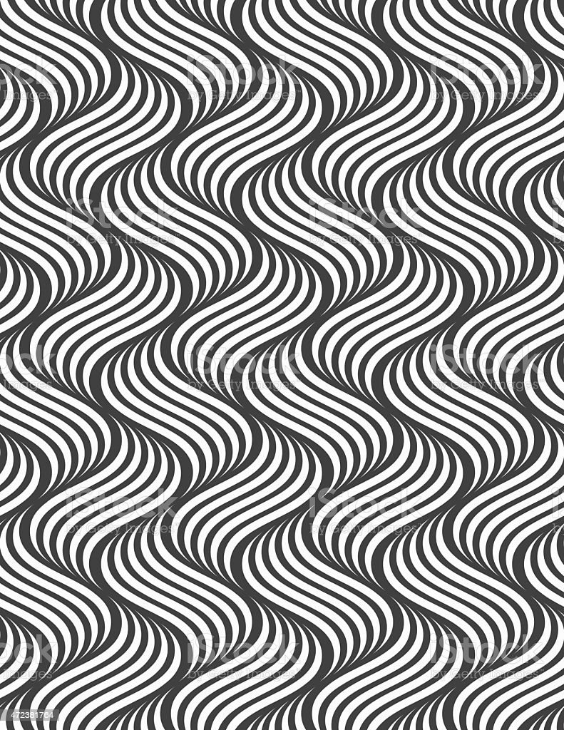 Flat gray with striped ripples vector art illustration