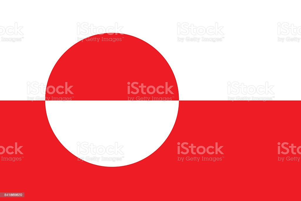 Flat Greenland flag vector vector art illustration
