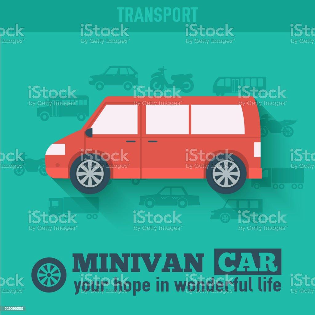 Flat hatchback car concept set icon backgrounds illustration design vector art illustration