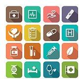 Flat HEALTHCARE Icon Set