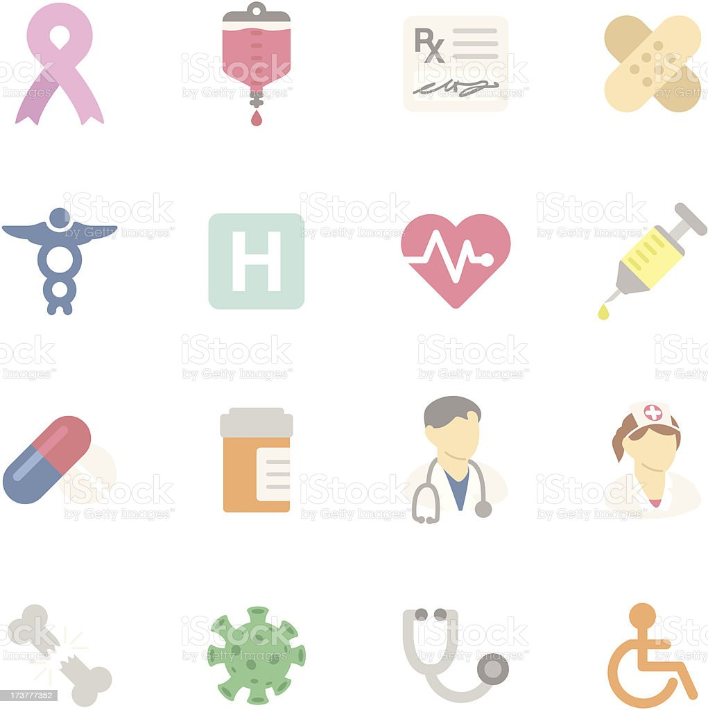 Flat | Healthcare royalty-free stock vector art