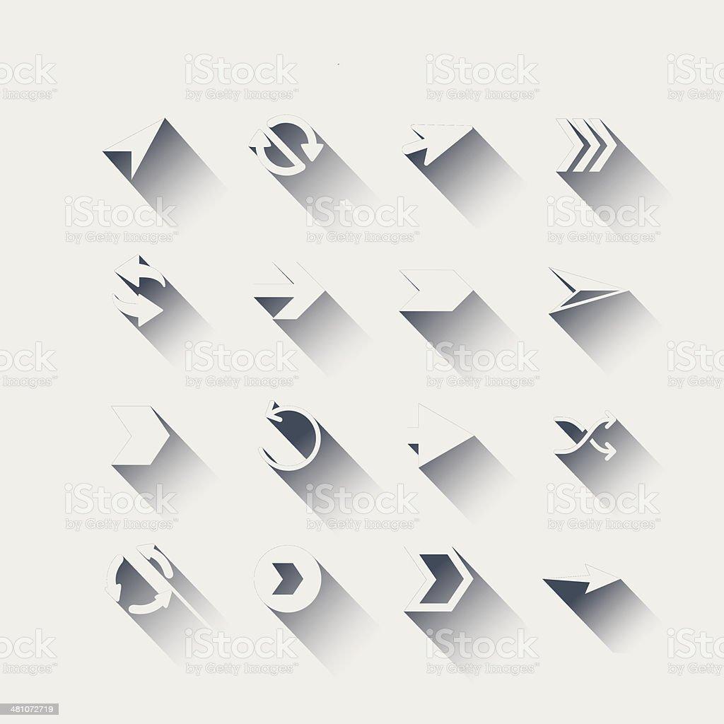 Flat icon arrow set royalty-free stock vector art