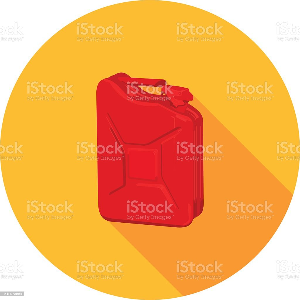 flat icon canister vector art illustration