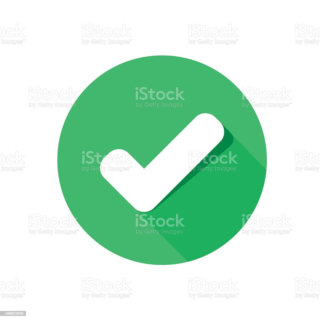 flat icon check vector art illustration