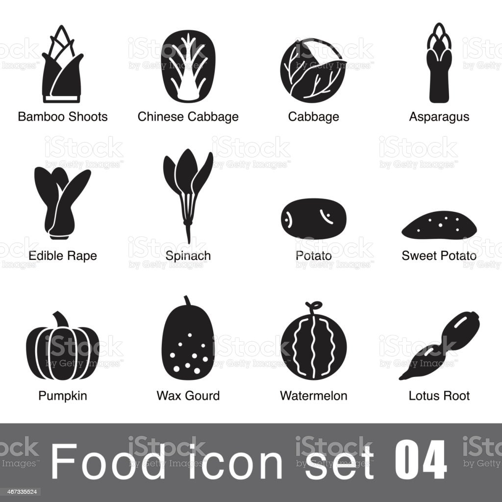 Flat icon design of different supermarket foods vector art illustration