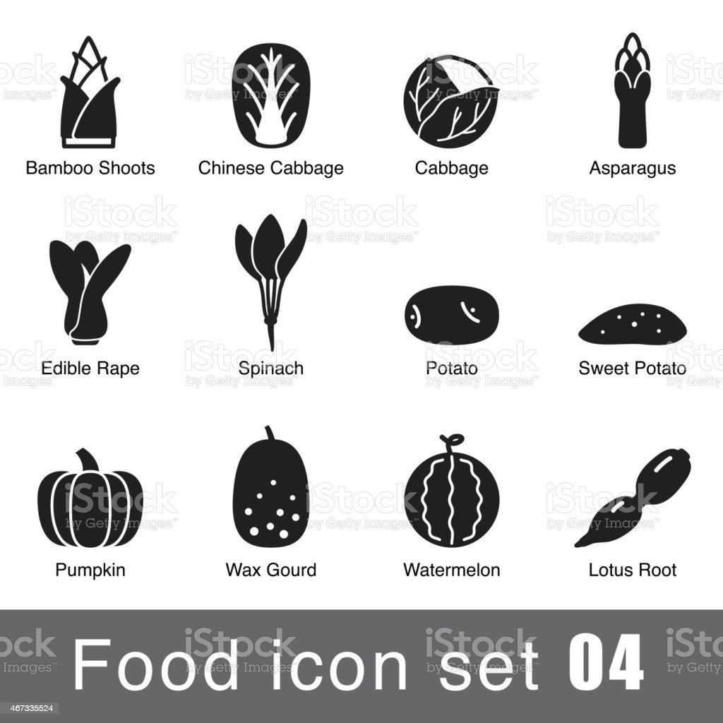 Flat icon design of different supermarket foods vector art illustration