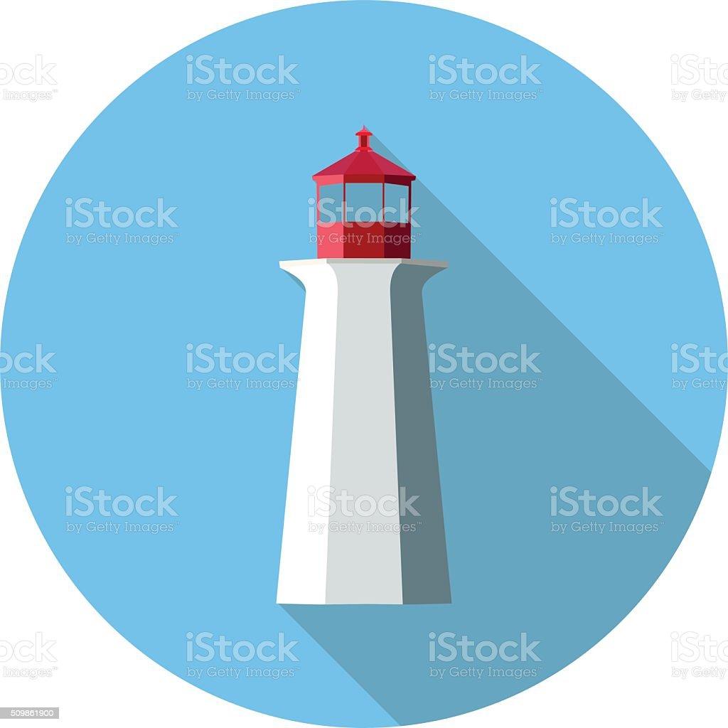flat icon lighthouse vector art illustration